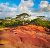 Jord för sju färg mauritius Royaltyfri Fotografi