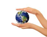 jord hands holdingen Arkivfoton