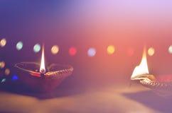 Jord- lampor i mörk natt Royaltyfri Bild