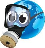 Jord med gasmasken Royaltyfri Bild