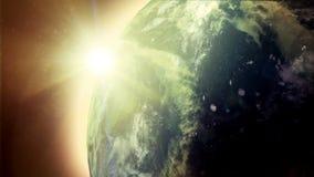 Jord med solen stock video