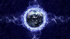 Jord och fibrer ringer animeringen, tolkningen, bakgrund, universum arkivfilmer
