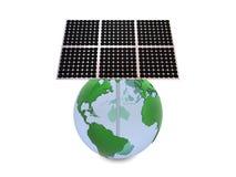 jord panels sol- Fotografering för Bildbyråer