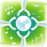 jord skyddar Arkivfoton