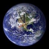 jord som kör ut västra s-tid Arkivfoto