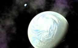 Jord som planeten och dess måne royaltyfria bilder