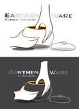 Jord- Ware två Logo Design vektor illustrationer