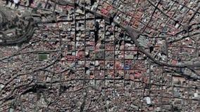 Jord zoomar i zoom ut La Paz Bolivia royaltyfri illustrationer