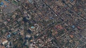 Jord zoomar in zoomen ut Accra Ghana arkivfilmer
