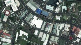Jord zoomar in zoomen ut Apia Samoa lager videofilmer