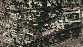 Jord zoomar in zoomen ut Bamako Mali arkivfilmer