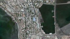 Jord zoomar in zoomen ut Djibouti stock video