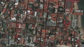Jord zoomar in zoomen ut Panama City lager videofilmer