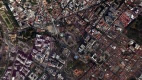 Jord zoomar in zoomen ut Rio de Janeiro Brazil stock video