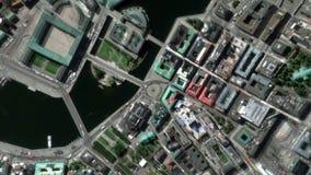 Jord zoomar in zoomen ut Stockholm Sverige lager videofilmer