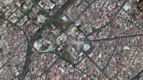 Jord zoomar in zoomen ut Tirane Albanien lager videofilmer