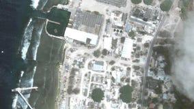 Jord zoomar in zoomen ut Yaren Nauru lager videofilmer
