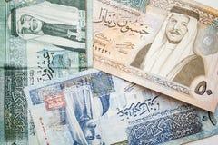 Jordańscy dinary, banknoty z królewiątkami zdjęcie royalty free