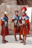 Jordańska mężczyzna suknia jako Romański żołnierz zdjęcie royalty free