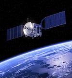 jorda en kontakt den orbiting satelliten vektor illustrationer