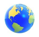 jorda en kontakt det isolerade jordklotet Royaltyfri Bild