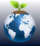 jorda en kontakt green Fotografering för Bildbyråer