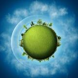 jorda en kontakt green Arkivfoton