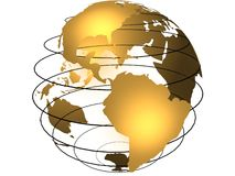 jorda en kontakt jordklotet Arkivbild