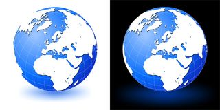 jorda en kontakt jordklotet Arkivfoto