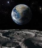 jorda en kontakt moonen Royaltyfri Bild