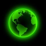 jorda en kontakt neon stock illustrationer