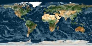 jorda en kontakt planet stock illustrationer