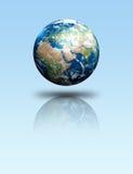 jorda en kontakt planet vektor illustrationer
