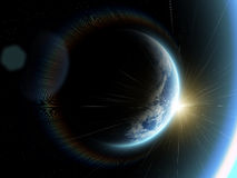 jorda en kontakt planet Royaltyfri Foto