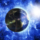 jorda en kontakt planetavstånd Royaltyfri Fotografi