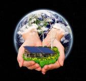 jorda en kontakt regenerative textur för energigov-nasa Royaltyfri Fotografi
