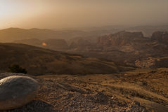 jordański zmierzch Obraz Royalty Free