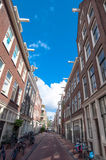 Jordaan district architecture in Amsterdam, the Netherlands. Royalty Free Stock Photography