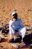 Jordan. Beduine in the desert Stock Image