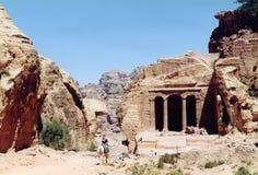 Jordan. Tombs in Petra Royalty Free Stock Photo