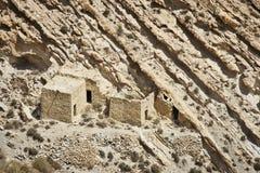 Jordan: Abandoned hamlet. Abandoned hamlet in desert in southern Jordan Royalty Free Stock Photos