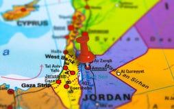 Jordan Amman map Stock Images