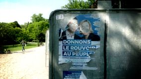 Jordan Bardella und Marine Le Pen Rassemblement National stock video
