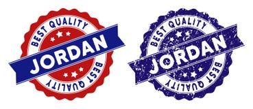 Jordan Best Quality Stamp con effetto di lerciume Fotografie Stock
