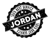 Jordan Best Service Stamp con effetto della polvere Immagini Stock