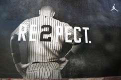 Jordan brand mural in Williamsburg section in Brooklyn Stock Images