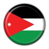 Jordan button flag round shape Royalty Free Stock Photo