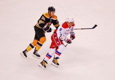Jordan Caron and Alex Ovechkin (NHL Hockey) Stock Photo