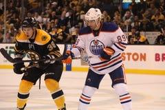 Jordan Caron v. Sam Gagner (NHL Hockey) Royalty Free Stock Image