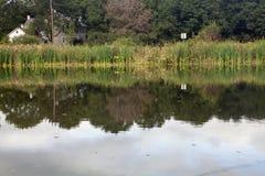 Jordan Creek. The peaceful Jordan Creek in Pennsylvania stock image